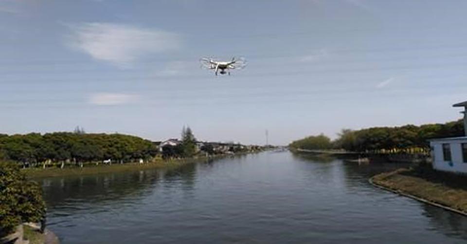 无人机用于江湖及河道监测